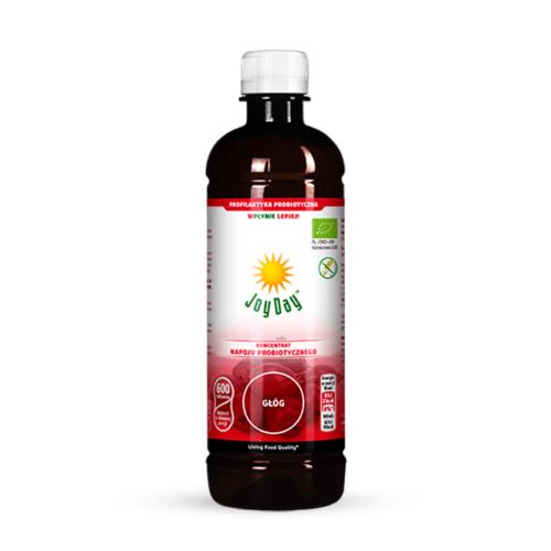 Koncentrat probiotyczny zawierający aktywne drobnoustroje wraz z ich metabolitami i ekstraktem ziołowym z owocu głogu, liści melisy, kwiatów głogu i lipy, ziela dziurawca oraz skrzypu